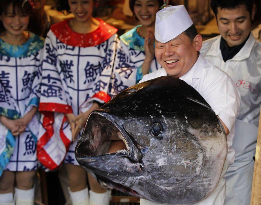 У Японії обробили велетенського тунця за 736 тисяч доларів
