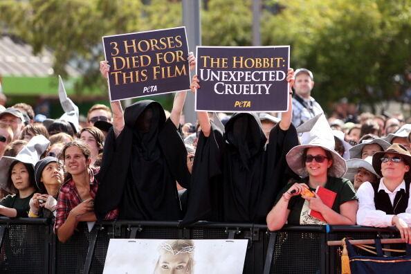 """Премьера """"Хоббита"""": красная дорожка, фанаты и протесты"""