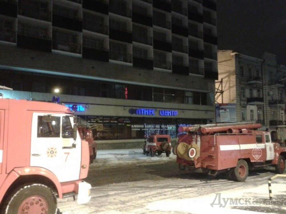 В Одесі горів готель нардепа