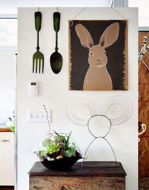 Декор растениями