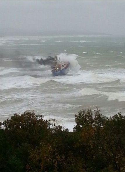 Біля берегів Туреччини затонув суховантаж з українським екіпажем. Відео