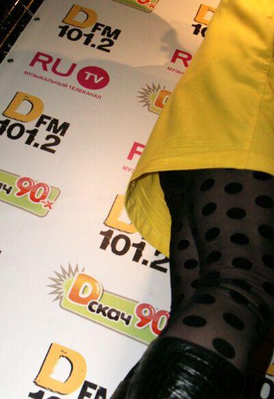 Шура одел платье и женские черные колготки. Фото
