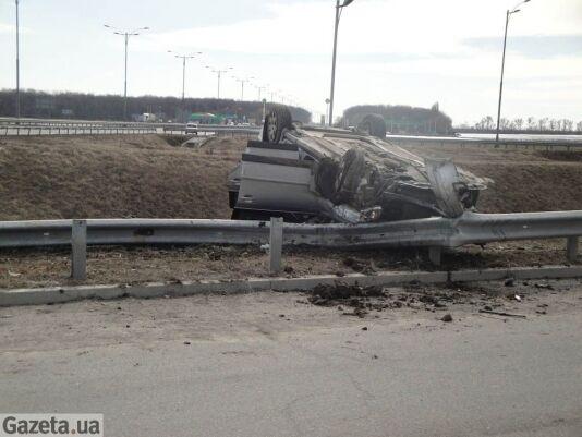 Черкасский вице-губернатор перевернулся в машине. Фото