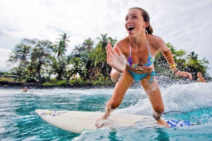 Сексуальные серфингистки. Фото