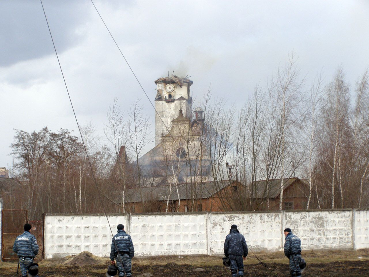 На Львовщине горела колония строгого режима