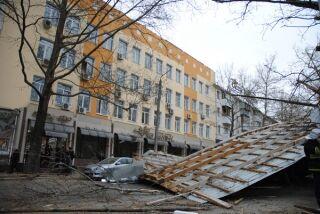 В Крыму сильный ветер валит деревья прямо на людей
