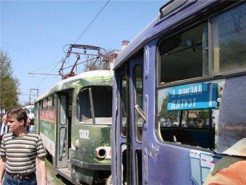 В центре Днепропетровска взорвалась урна