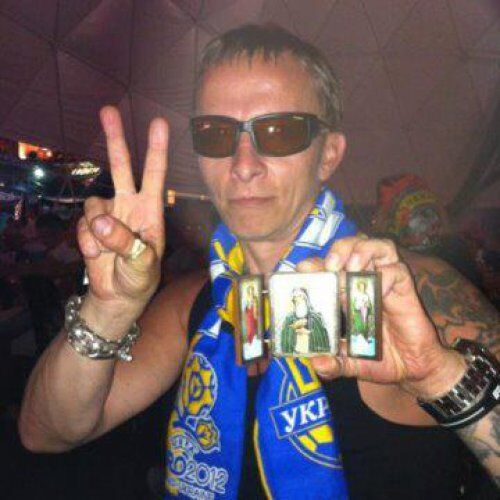 Охлобистін вболіває за Україну. Фото