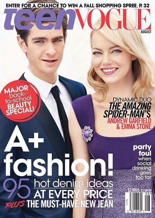 Стоун и Гарфилд поделили Teen Vogue. Фото