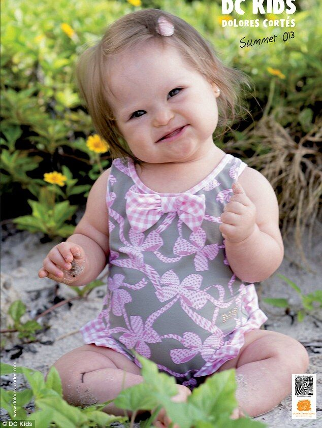 Девочка с синдромом Дауна стала моделью. Фото