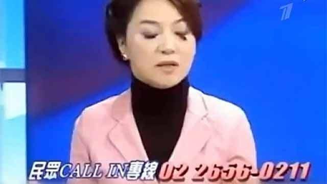 У телеведущей в прямом эфире отпали ресницы