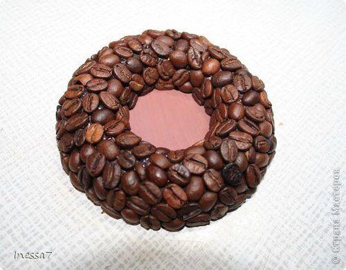 Мастер-класс: подсвечник с кофейными зернами