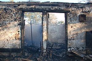На Николаевщине произошел пожар на базе отдыха