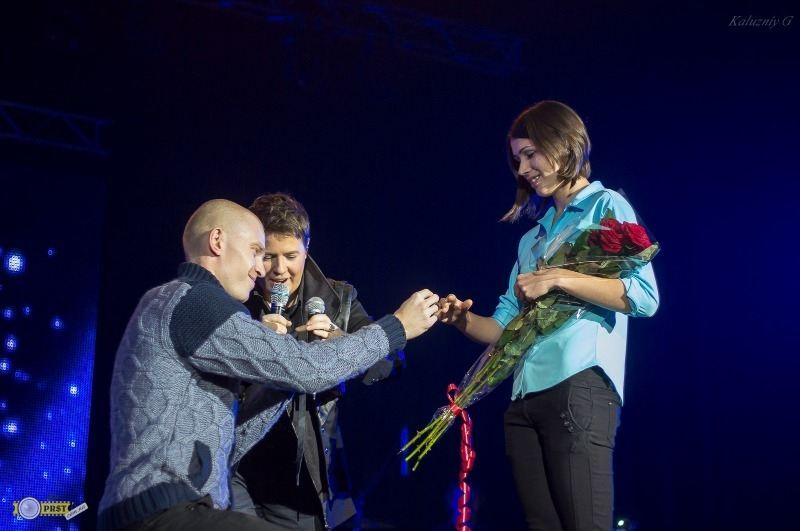 Евгений Литвинкович помог поклоннику сделать предложение