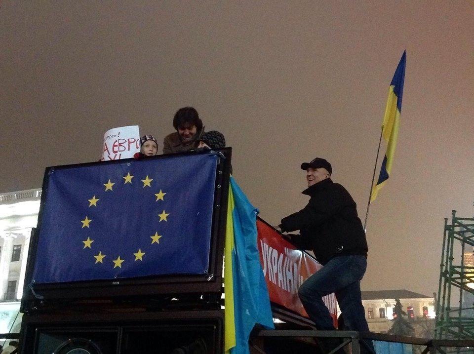 Маленькие киевляне вышли на митинг в защиту евроинтеграции Украины