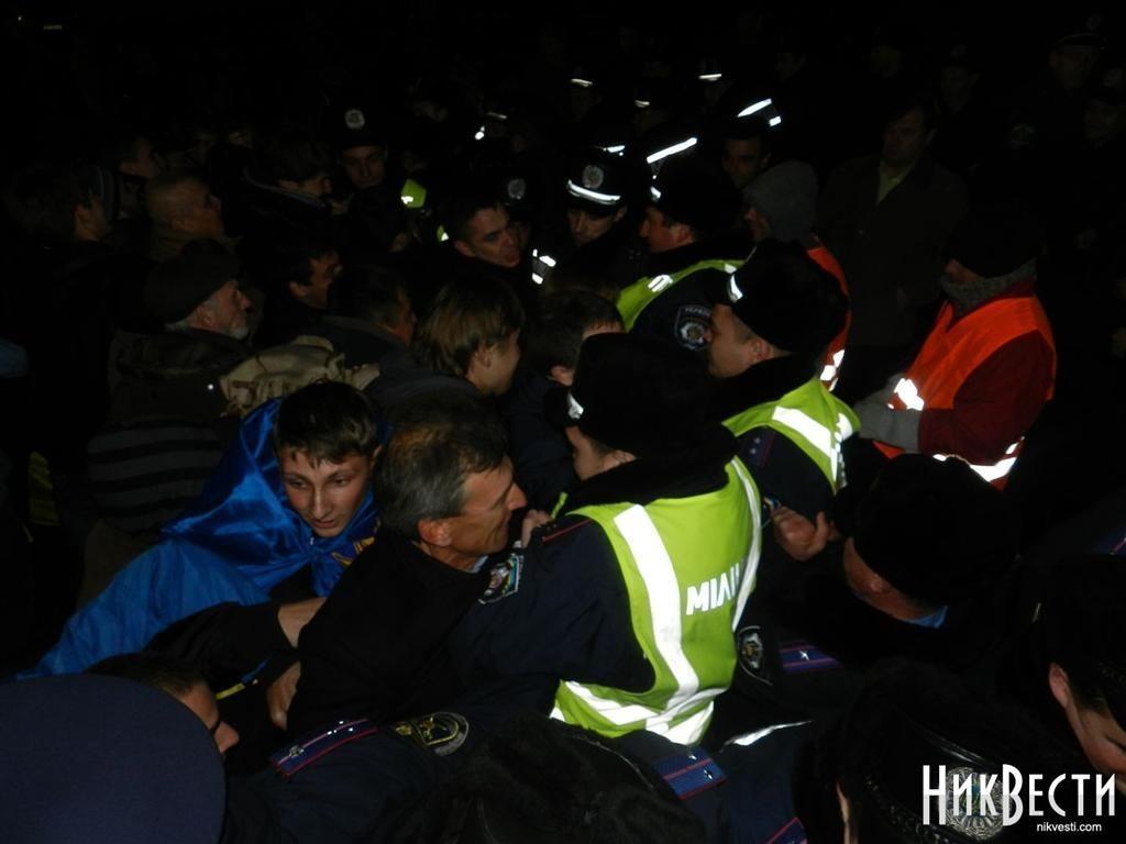 В Николаеве участники Евромайдана дали отпор силовикам