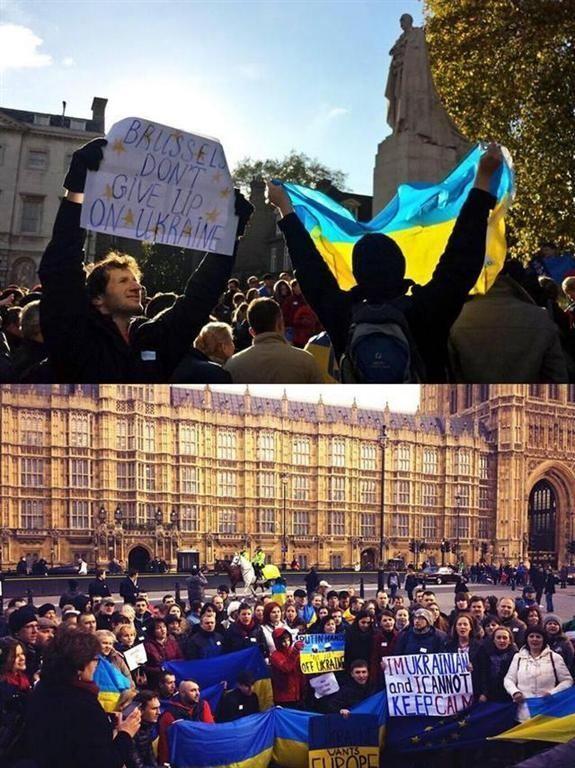 Украинцы в Лондоне митинговали в поддержку евроинтеграции