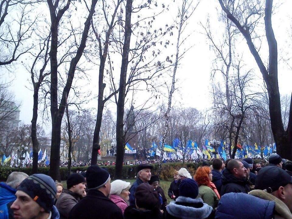 Оппозиция насчитала в парке Шевченко более 10 тыс. сторонников евроинтеграции