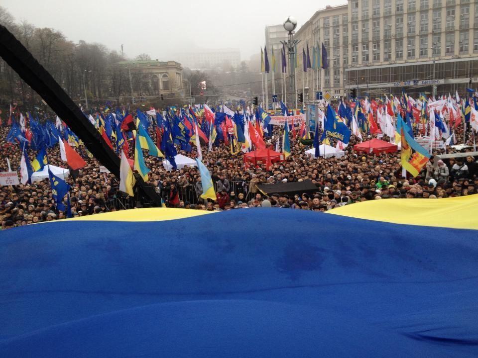 Оппозиция заявляет о 100 тыс. участников Евромитинга