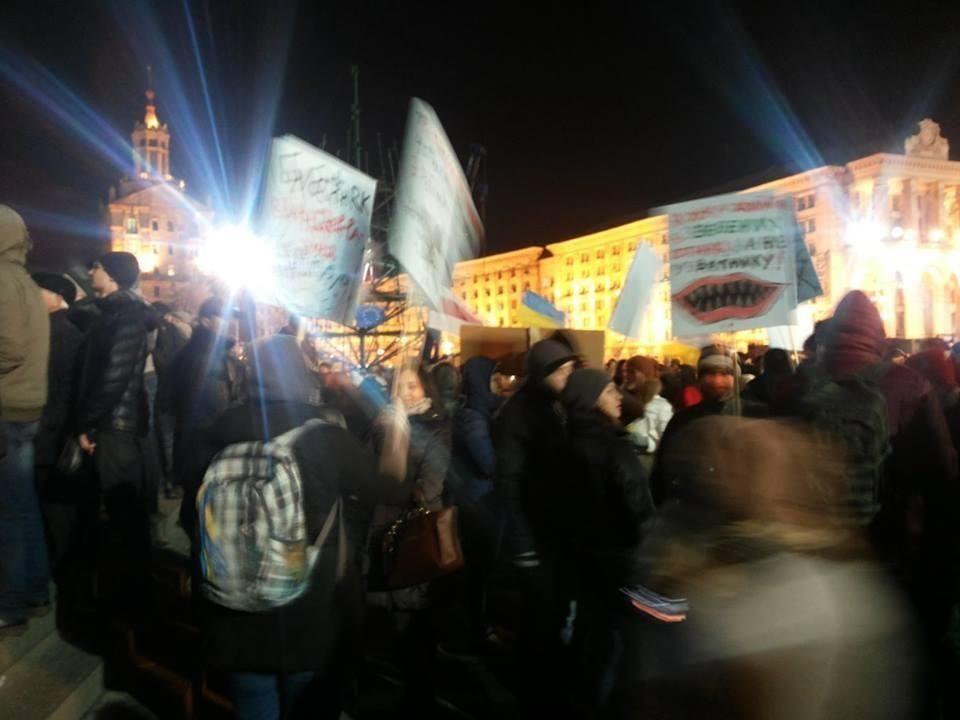 Евромайдан в Киеве: люди не испугались мороза