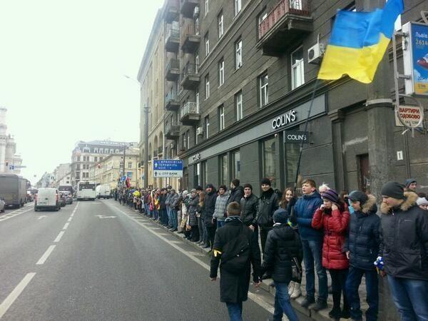Украинцы образовали живую цепь от Киева до ЕС