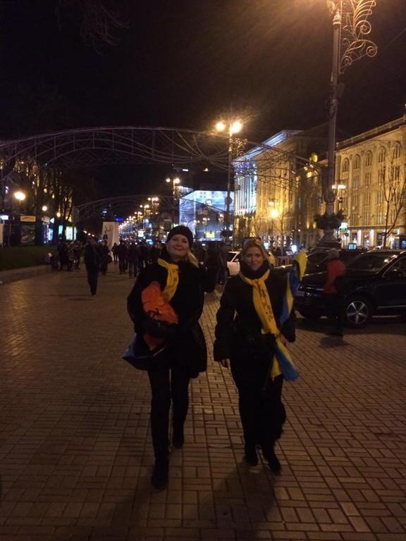 Жена Левочкина вышла на Майдан поддержать евроинтеграцию