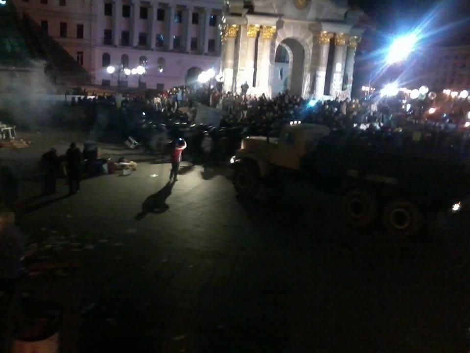 """Беркут"" жестоко разогнал Евромайдан"