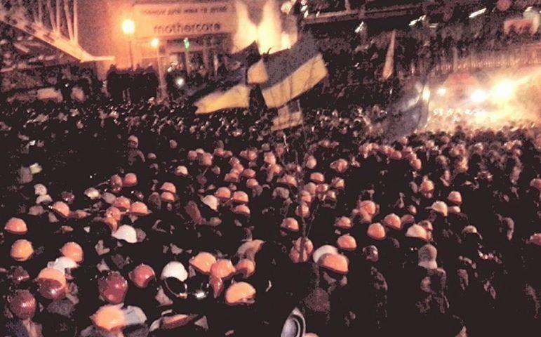"""Штурм """"Беркута"""" на Майдане Незалежности: фото и видео с места событий"""