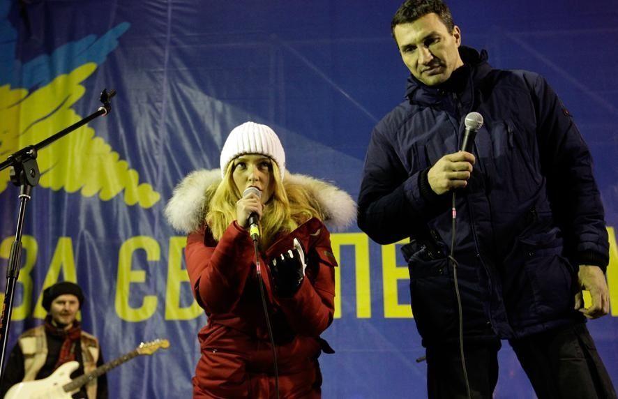 Невеста Кличко-младшего: украинский народ очень мужественный