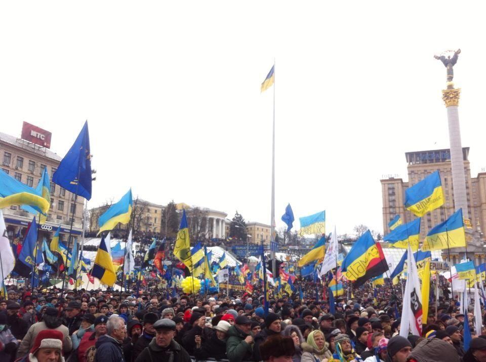 МВД: в центре Киева около 50 тыс. митингующих
