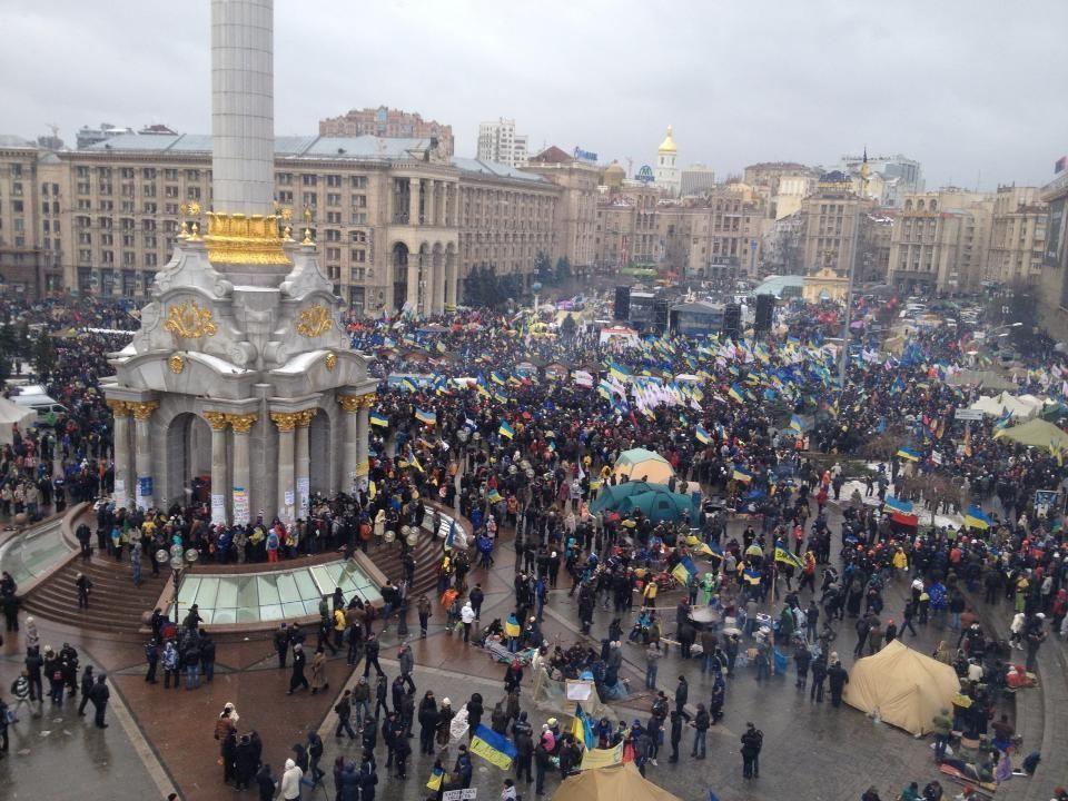 Оппозиция насчитала миллион участников Народного вече. Милиция - в 20 раз меньше