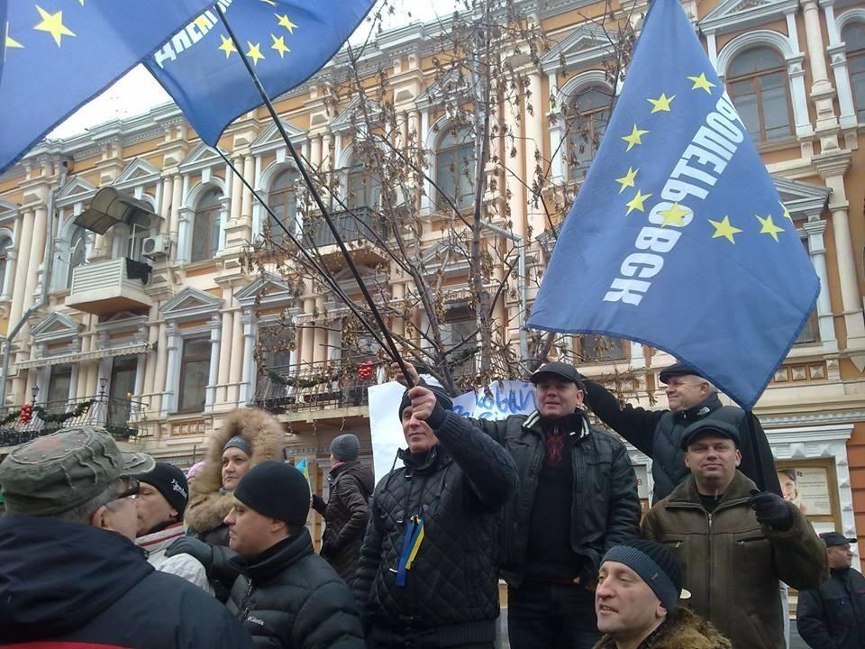 В Днепропетровске поддержать Марш миллиона пришли три тысячи человек