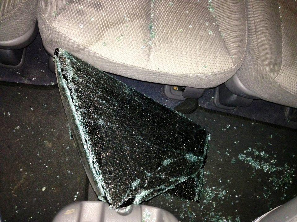 В Киеве разбили машину помощницы Ляшко. Фото