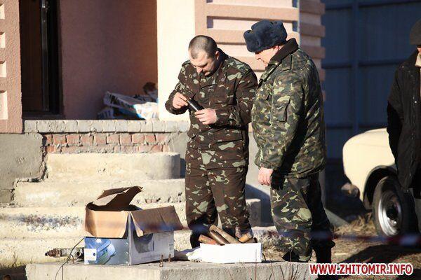 В жилом доме Житомира взорвался снаряд. Видео