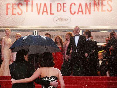 Зірки промокли на червоній доріжці в Каннах. Фото. Відео