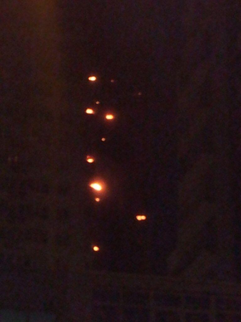 Пожар в новостройке на Шулявке перекинулся на 10 этажей