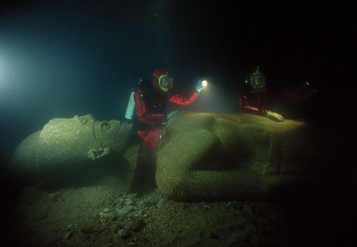 Ученые бьются над загадкой затонувшего города Гераклион