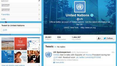 """ООН підписалася на """"твіттер"""" відомої порнозірки"""