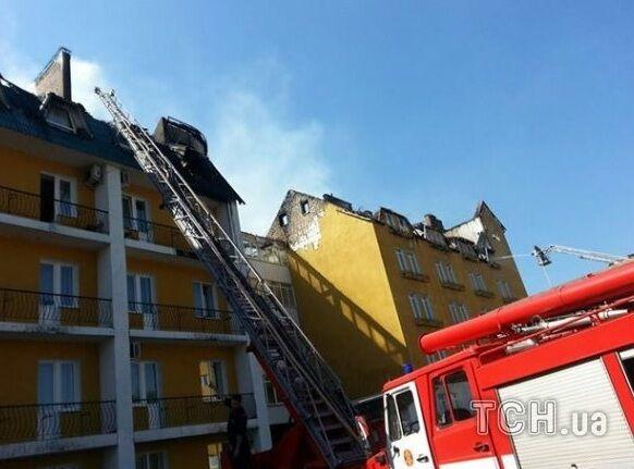 Пожар в гостинице под Киевом: эвакуировано 32 человека