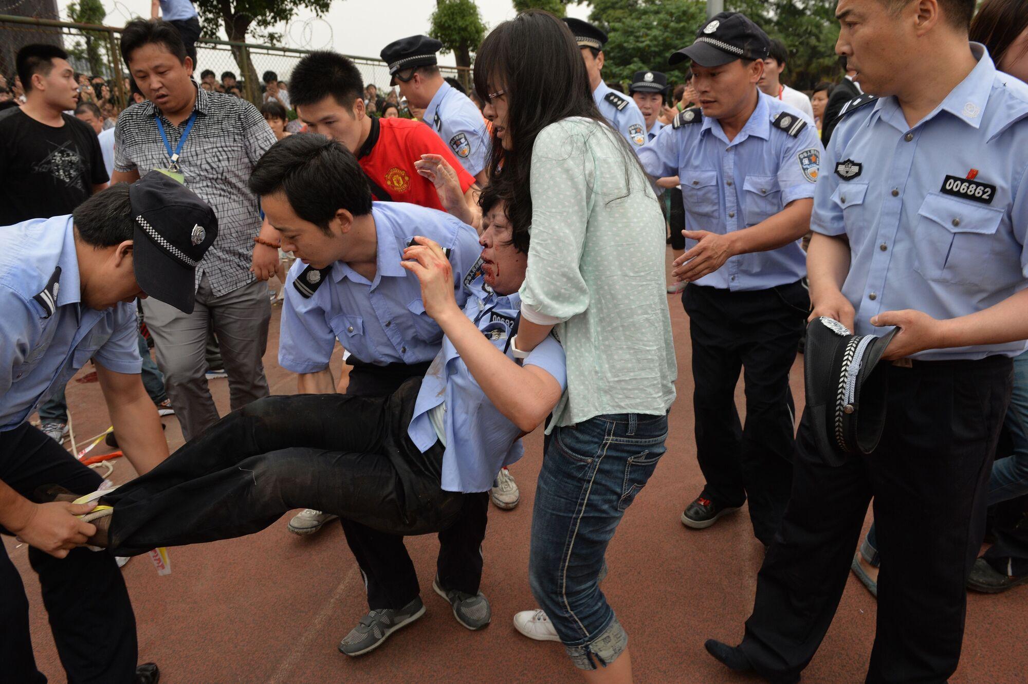 Бекхэм спровоцировал массовую давку в Шанхае. Фото
