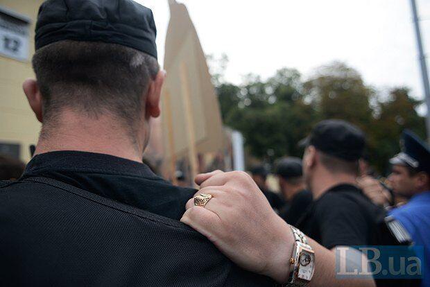 """Учасників мітингу під """"Мистецьким арсеналом"""" затримали"""