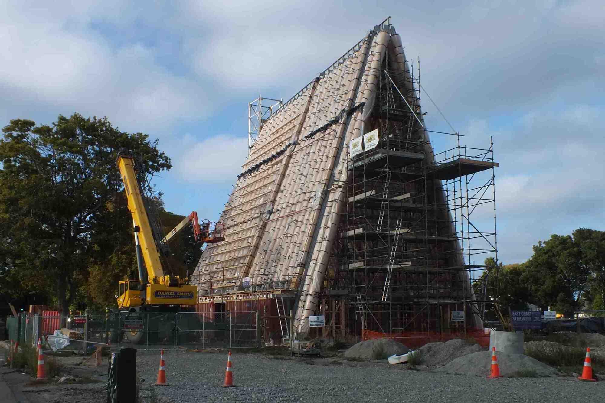 В Новой Зеландии построили первую в мире церковь из картона