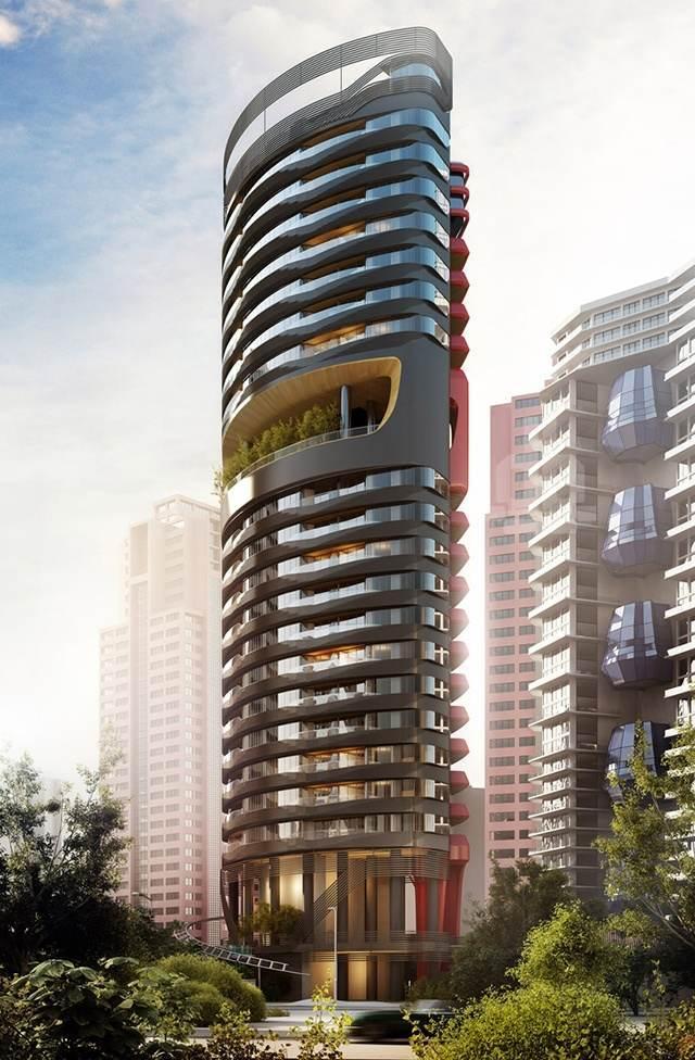 В Сингапуре появится небоскреб в стиле Ferrari