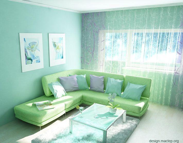 Нежные пастельные цвета в интерьере