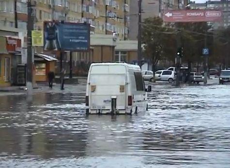 Потоп в Кіровограді: люди ходили по пояс у воді