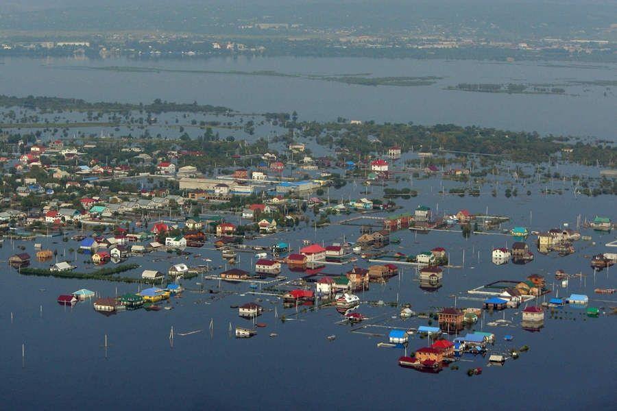 Повінь в Росії: рівень води в Амурі б'є всі рекорди
