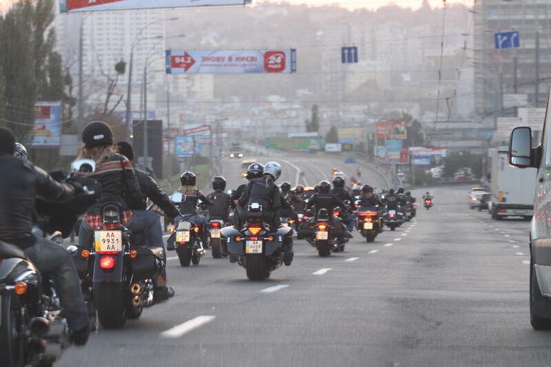 В Киеве состоялось грандиозное закрытие мотосезона