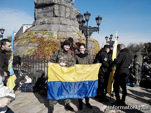 """Сотня новобранцев """"Азова"""" отправилась в зону АТО: опубликованы фото и видео"""