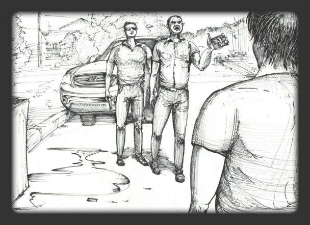 Освобожденный из плена художник нарисовал пытки боевиков