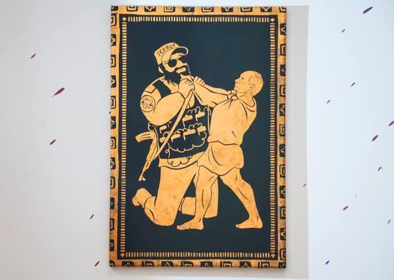 Геракл в шоке: СМИ опубликовали фото и видео с выставки о 12 подвигах Путина